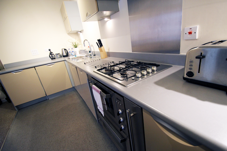 Fully equipped kitchen at The Pinnacle