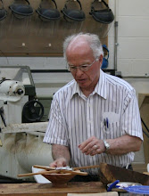 Photo: Phil shows his two-dimensional leveling gauge.