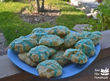 Easter Blue Almond Cookies Recipe