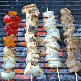 Grilled Swordfish Skewers.