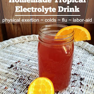 Homemade Tropical Electrolyte Drink.