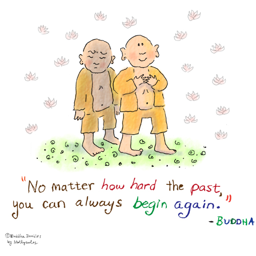 Photo: Buddha Doodle - 'Past' by mollycules