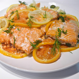 Slow Roasted Salmon with Citrus and Fennel