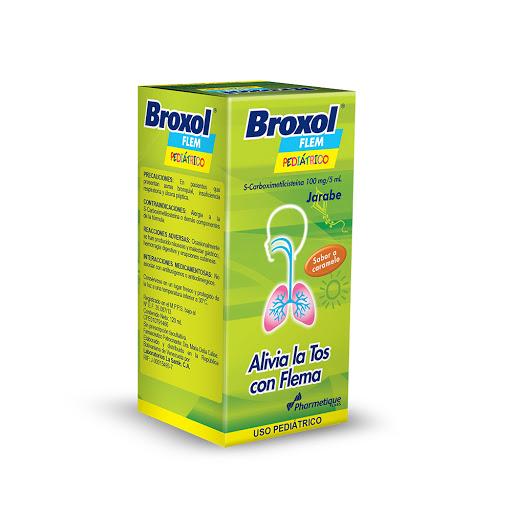carboximetilcisteina broxol flem 100mg/5ml ped jarabe 120ml la sante
