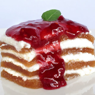 Quince and Cream Layered Dessert.