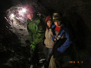 Photo: The first part of the week was rainy, so we decided to explore some of the caves around Mt. Fuji.