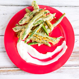 Tempura Green Beans with Garlic Mayo