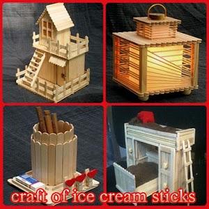Craft Of Ice Cream Sticks