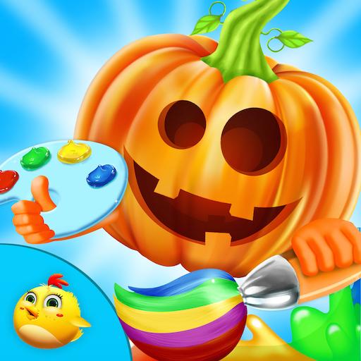 休闲のハロウィンは子供のためのペイント LOGO-記事Game