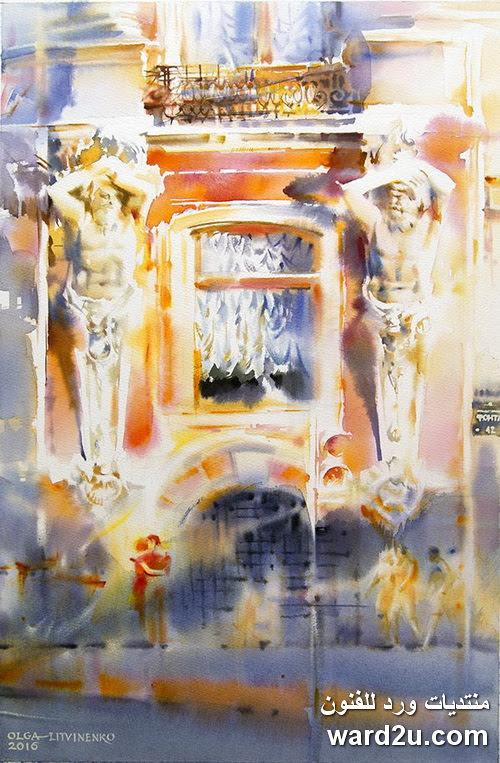 لوحات تعبيرية و الوان مائية الفنانة Olga Litvinenko