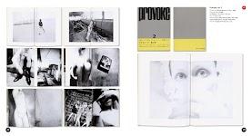10 afbeeldingen van tijdschrift 'Provoke no. 2' met bijbehorende Japanse tekst