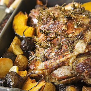 Roast Lamb and Vegetables.