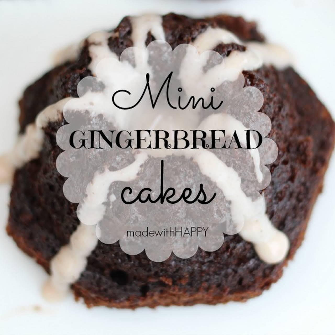 Mini Gingerbread Cakes with Cinnamon Vanilla Yogurt Frosting