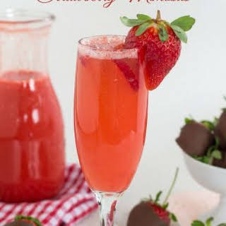 Fresh Strawberry Mimosas.