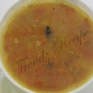 Pappu Charu Recipe Andhra Style   Dal Rasam