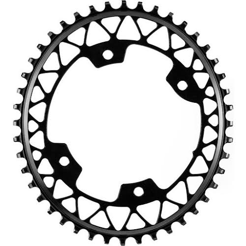 Absolute Black 48t 110BCD Asymmetric Gravel 1X Oval Chainring