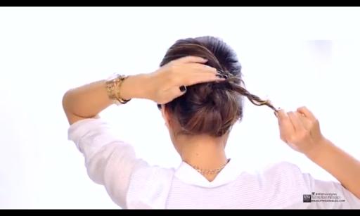 簡単なヘアスタイル