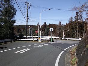 県道に合流