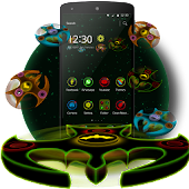 3D Neon Rotate Spinner Theme