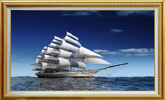 Ý nghĩa của tranh thuận buồm xuôi gió