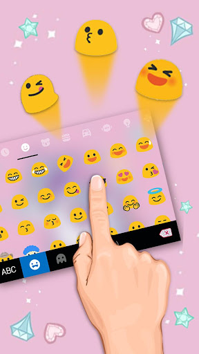 cute pink unicorn keyboard theme screenshot 3