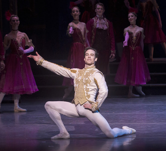 Photo: American Ballet Theatre's Sascha Radetsky danced the role of Prince Charming. Photo by Robert Shomler.