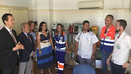 El delgado de Salud, José Mª Martín, ha visitado el consultorio de Puerto Rey.