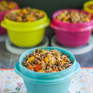 Freezer Low Carb Lunch Mexican Cauliflower Rice.