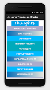 Awesome Thoughts and Quotes - náhled