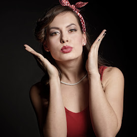 Pin-up with Michaela by Michaela Firešová - People Portraits of Women ( female, pin-up, portrait )