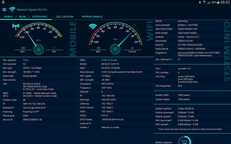 Network Signal Info Pro Screenshot 9