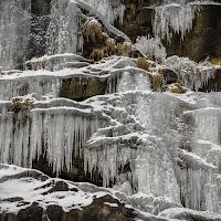 Nevicata sulla cascata di