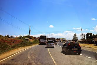 Photo: Traffic in the main highway to Nairobi