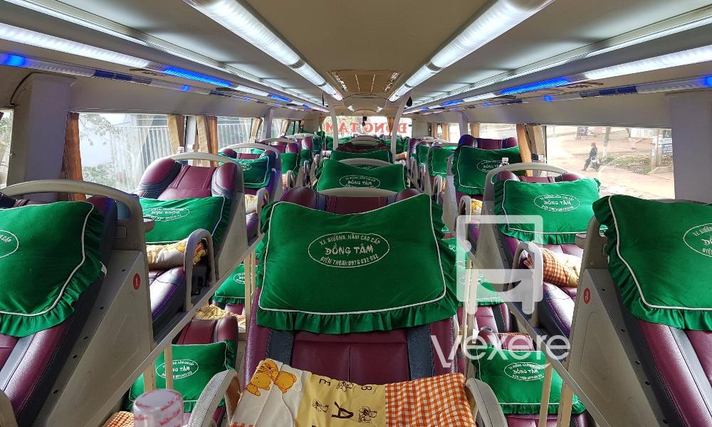 Nội thất xe Đồng Tâm đi Dak Lak từ Sài Gòn