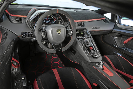 Carbon fibre and Alcantara dominate the cockpit. Picture: SUPPLIED
