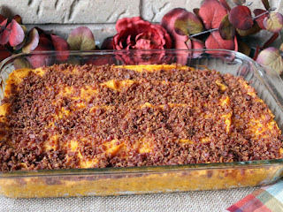 Bacon And Brown Sugar Topped Sweet Potato Bake Recipe