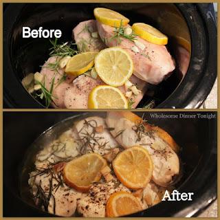 Lemon Rosemary Chicken {Crock Pot}.