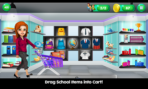 Download High School Book Store Cashier - Kids Game on PC