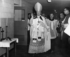 Photo: 1952 School Dedication - Cardinal Edward Mooney.