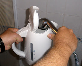 Photo: A solution to filling our kettle in the B&B