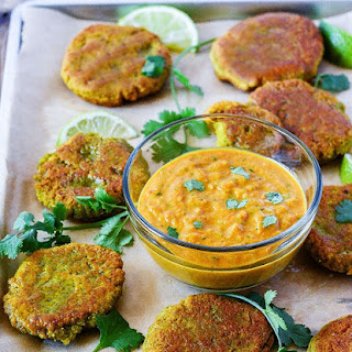 Yellow Split Peas Fritters with Curry Sauce Recipe
