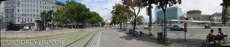 Photo: Swedenplatz (waiting for the bus)