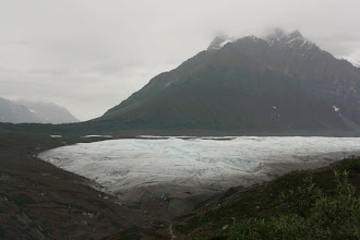 Photo: then we did a 2 mile hike to Root Glacier.