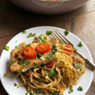 Salmon Spaghetti Carbonara.