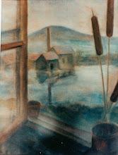 Photo: Blick auf alte Ziegelei, Pastell, 1958- verkauft/Dallas