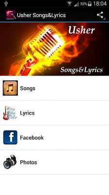Usher Songs&Lyrics - screenshot