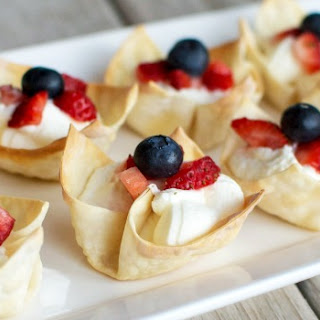 Red, White and Blue Berry Tartlets