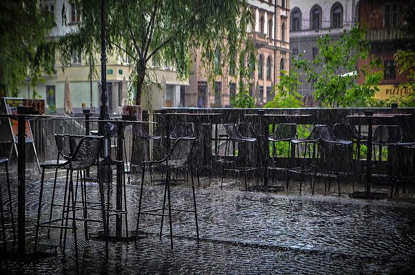 ljubljana, poletni dež di kaos