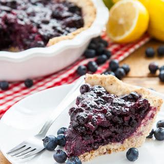 Vegan, Gluten-Free Blueberry Pie.