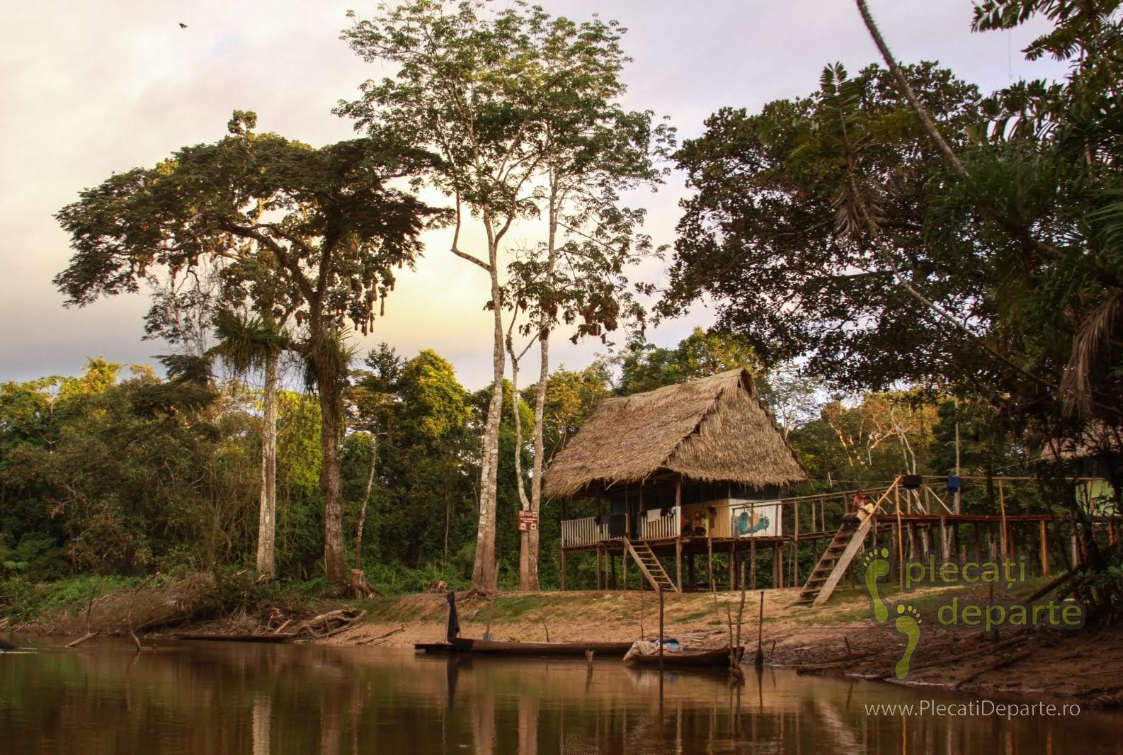 Refugiul sau popasul Posa Gloria, in jungla amazoniana, in Rezervatia Nationala Pacaya-Samiria, Peru